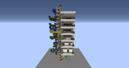 1x1 6 floor piston elevator 1.8.1+ Minecraft Map & Project