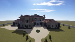 Mediterranean Mansion Project (No Interior Minecraft Map & Project