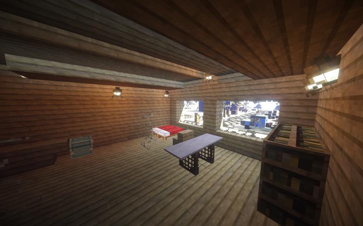 Interior of Mitchell's house