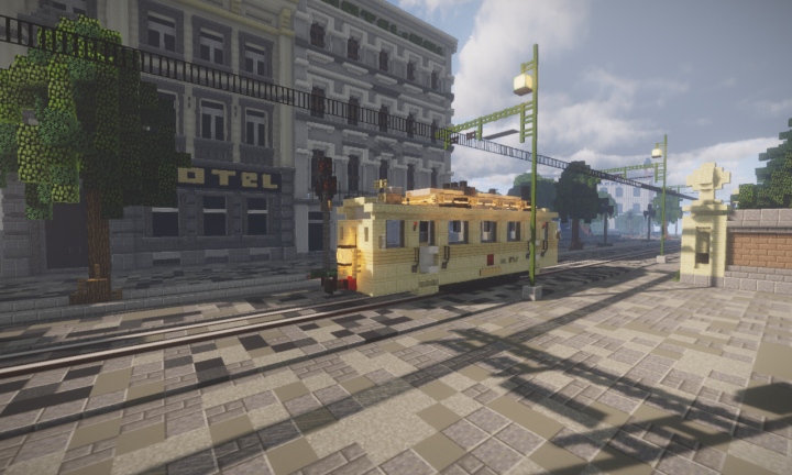 Tram in the streets of Valvy