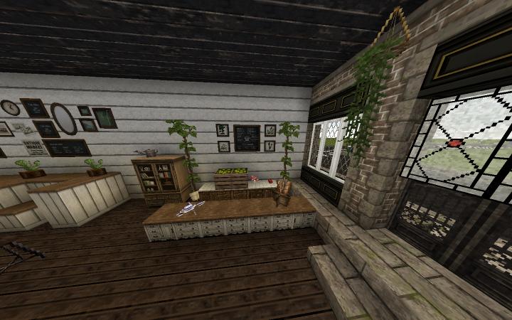 Cafe entryway