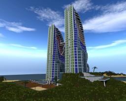 Super Massive Modern Hotel Minecraft Map & Project