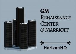 1:1 GM Renaissance Center & Marriott, Detroit [DOWNLOAD NOW] Minecraft Map & Project