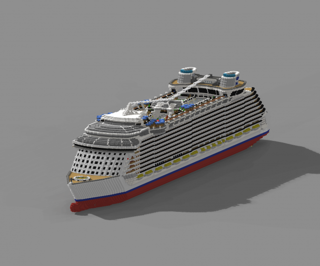 Render of the entire ship