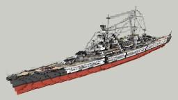 German Heavy Cruiser Prinz Eugen 1:1 Minecraft Map & Project