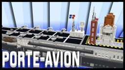 Military aircraft carrier / Porte-avion militaire Minecraft Map & Project
