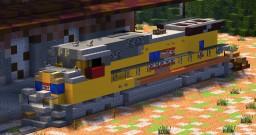 1:5:1 Union Pacific EMD SD70M Flared Radiators Minecraft Map & Project