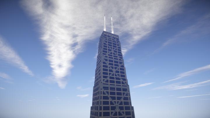 e8077d5729 John Hancock Tower, Chicago illinois USA Minecraft Project