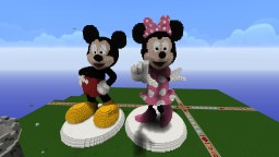 Mickey and Minnie Mouse Minecraft Map & Project