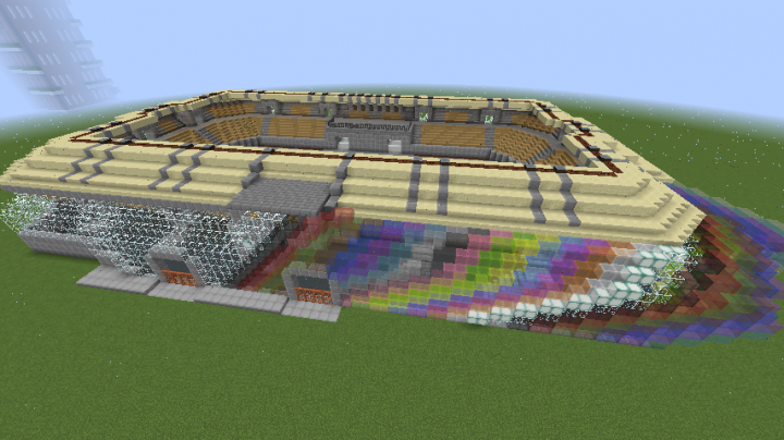 The soccer stadium.