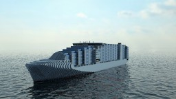 An amazing fictional Cargo Ship Minecraft Map & Project