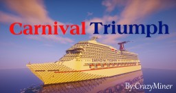 Carnival Triumph 1:1 Scale Recreation (Exterior Only) Minecraft Map & Project