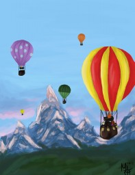 painting - hot air balloons | Malia Minecraft Blog
