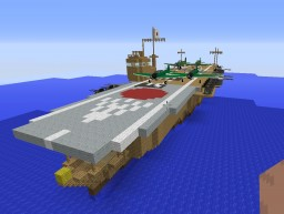 Functioning, economic IJN Kaga Aircraft Carrier Minecraft Map & Project