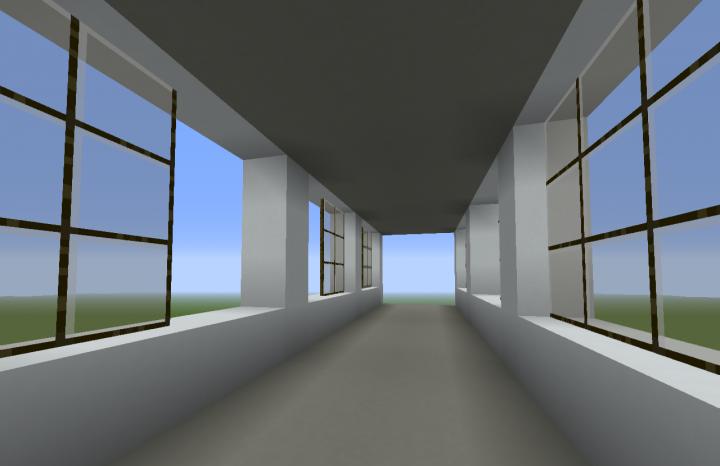 The breezeway interior.