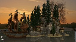 Forest/Winter Island HUB Minecraft Map & Project