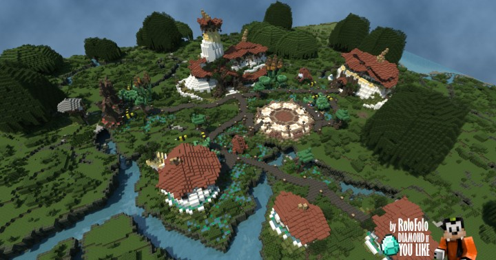 Toad Town on OakAxe Creative Server