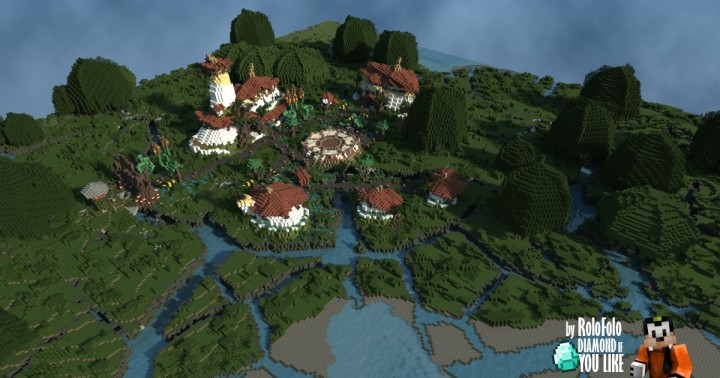 Toad Town Landscape done by Lentebriesje
