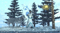 Winter fairy and Wolf Organic Minecraft Map & Project