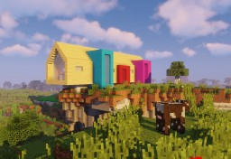 colored Modern House Minecraft Map & Project