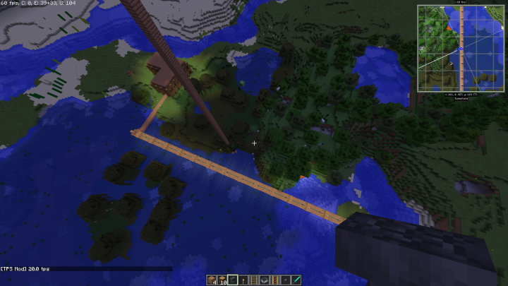 This is a nice railway I created a while ago in a local world.