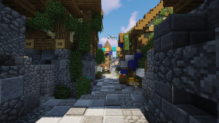The main street of a new town called Kalnoria