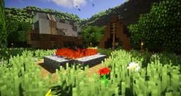 Campground Style Spawn with Terraformed Mountains Minecraft Map & Project
