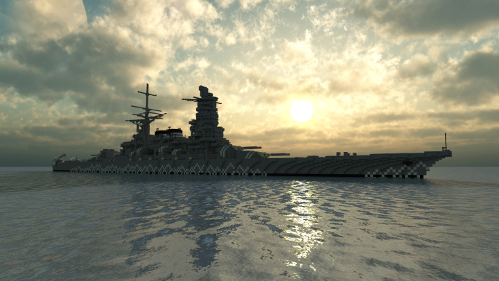 Named after the ancient province of Mikawa, the Mikawa-class battleships were built for the Imperial Japanese Navy in the late 1920s after the Number 13-class. Here, one of the members of the class can be seen sailing in the Sea of Japan at sunrise.