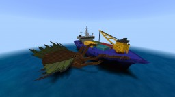 Cargo Ship Under Attack Minecraft Map & Project