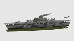Fictional Aircaft Carrier Pegasus Minecraft Map & Project