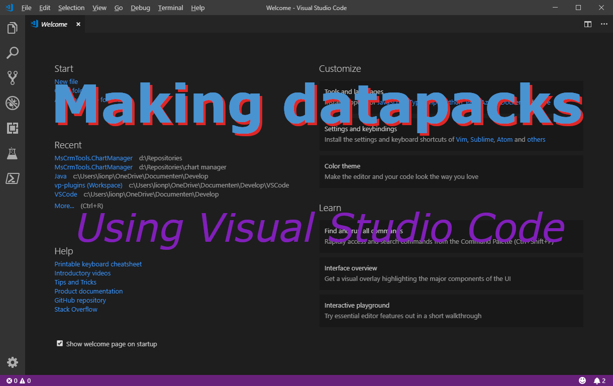 Making a datapack with VS Code Minecraft Blog