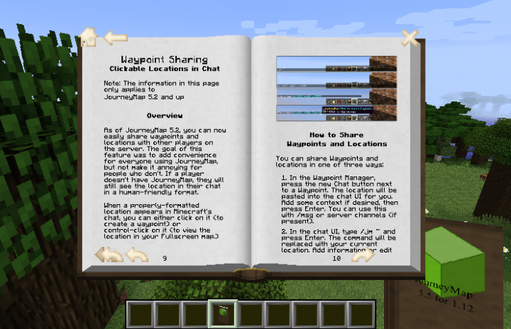 readable Guide book for JourneyMap Minecraft Texture Pack