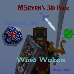 MSeven's Zelda 3D Pack (Wind Waker, Ocarina Of Time, Majora's Mask) Minecraft Texture Pack