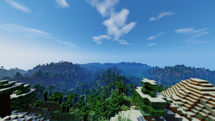 View from the summit of Mount Washington using extreme render distance