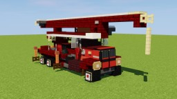 Old Concrete Pump Truck Minecraft Map & Project