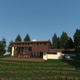 Frank Lloyd Wright - Bachman-Wilson House Recreation Minecraft Map & Project