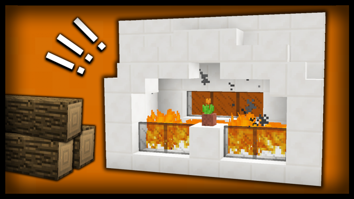68 ideas of fireplaces / 68 idées de cheminées Minecraft Project