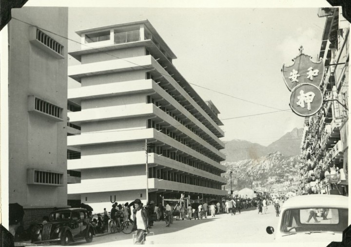 A newly built resettlement block in June 1957. Photo from the Government Records Service, Hong Kong