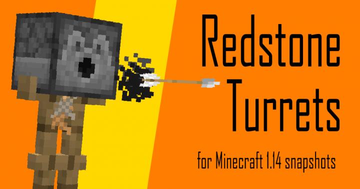 Popular Data Pack : Redstone Turrets Datapack [1.13/1.14]