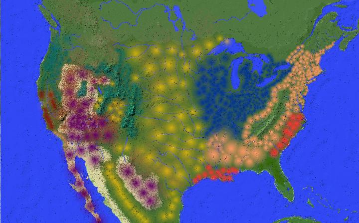 United States map USA North America Minecraft Project