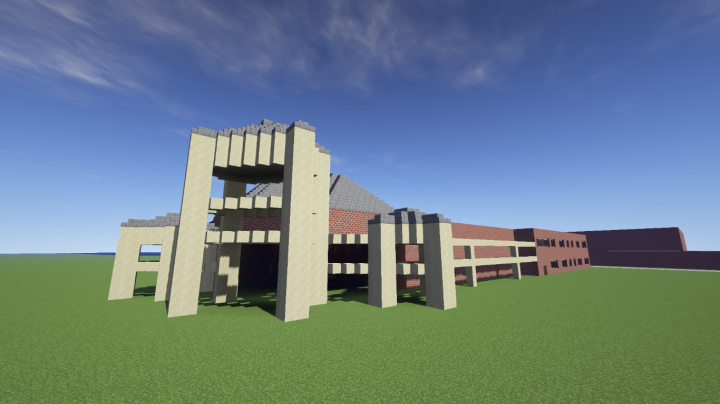 Front of the School Minecraft
