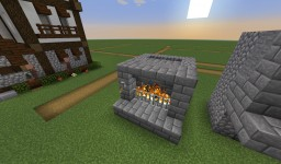 3 Wide Fireplace with on/off switch works in Minecraft 1.13 Minecraft Map & Project