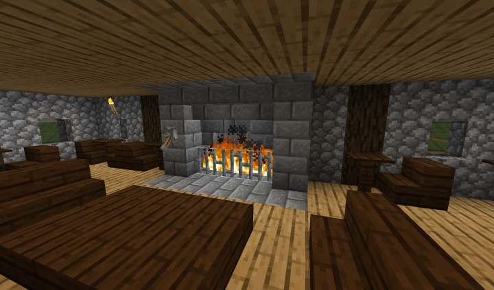 New fireplace in the Main Lounge of the Royal Inn
