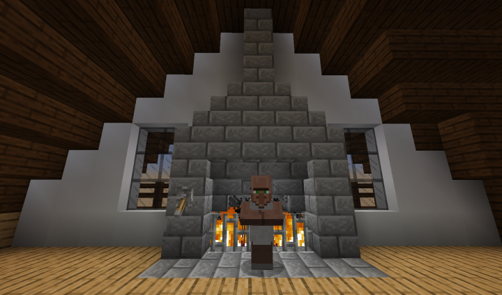 and in the attic... even the villagers like a warm fire.