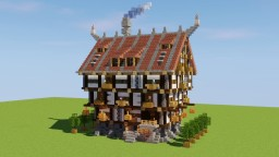 Large Medieval House Minecraft Map & Project