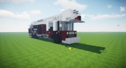 American Fire Truck (Ladder) Minecraft Map & Project
