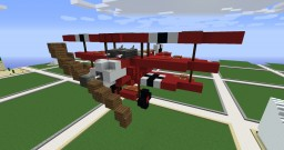"""Fokker Dr. I"" Red Baron aircraft by SeGow Minecraft Map & Project"