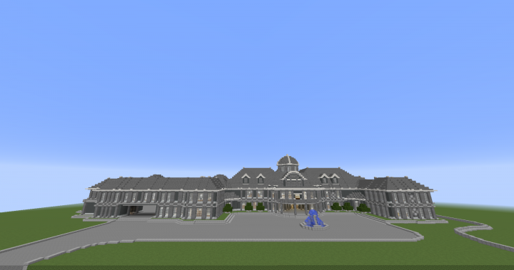 Stately Wayne Manor Front View  Work In Progress