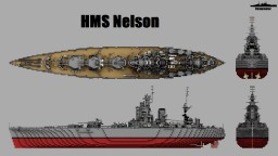HMS Nelson 1:1 Scale Minecraft Map & Project