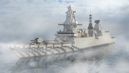 Type 45 Destroyer   1:1 Minecraft Map & Project
